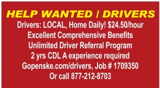 Help Wanted - Drivers