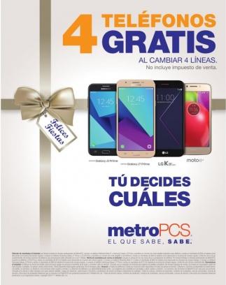 4 Telélefonos Gratis