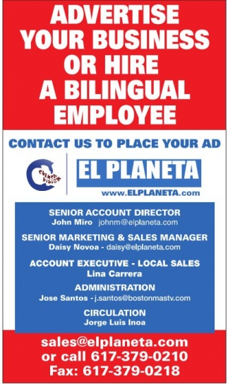 Advertise Your Business Or Hire  Bilingual Employee
