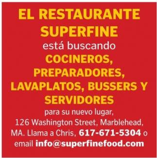 Cocineros, Prepaadores, Lavaplatos, Bussers y Servidores