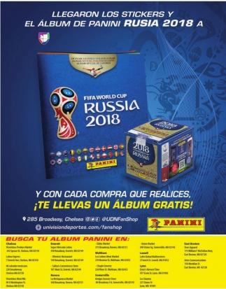 Llegaron los Stickers y El Album de Panini Rusia 2018
