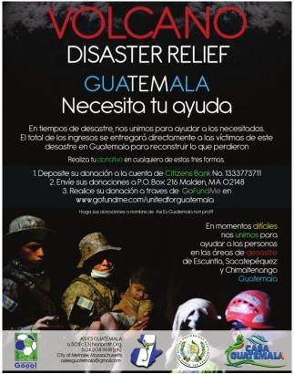 Volcano Disaster Relief