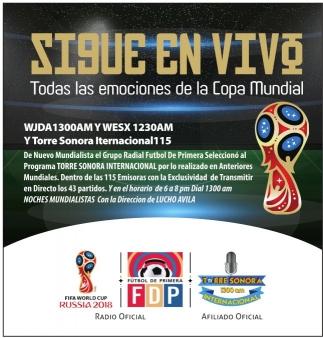 Sigue en Vivo Todas las Emociones de la Copa Mundial