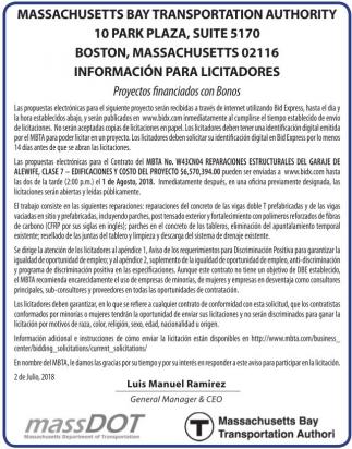 Informacion para Licitadores