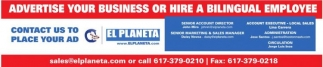 Advertise Yoyr Business or Hire a Bilingual Employee