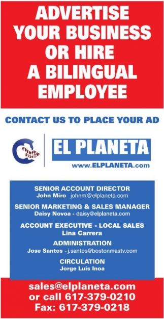 Advertise Yur Business or Hire a Bilingual Employee