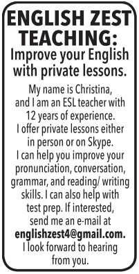 Improve Your English with Private Lessons