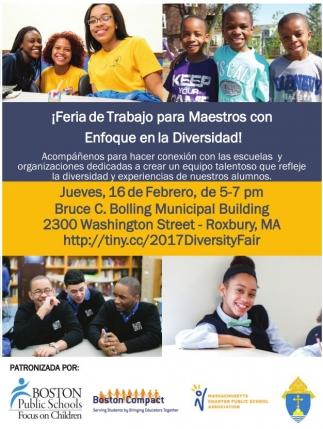 ¡Feria del trabajo para Maestros con Enfoque en la Diversidad!