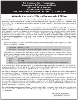 Aviso de Audiencia Publica