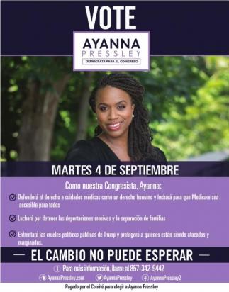 Vote Ayanna Pressley