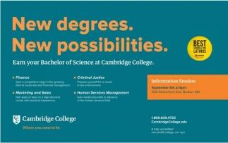 New Degree. New Possibilities.