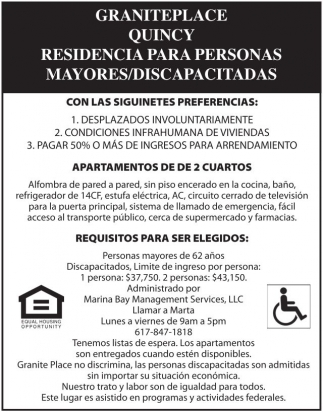 Residencia para Personas Mayores/Discapacitadas