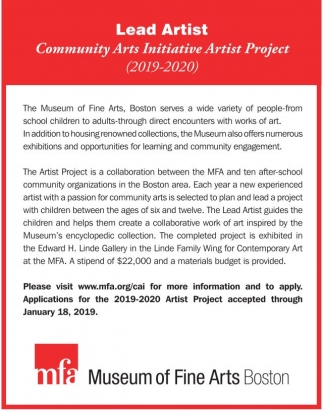 Community Arts Initiative Artist Project