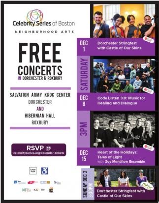 Free Concerts in Dorchester & Roxbury