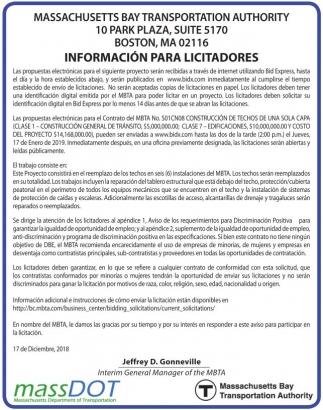 Información para Licitadores