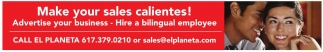 Make your sales calientes!