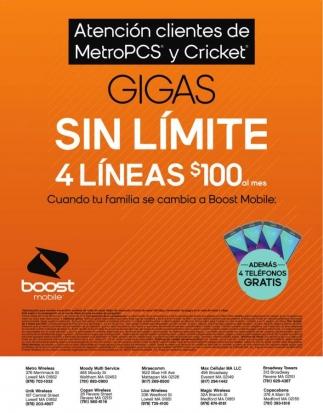 Atención clientes de MetroPCS y Cricket