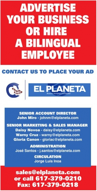 Advertise Your Business or Hire a Bilingual Employee