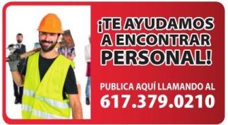 Te Ayudamos a Encontrar Personal