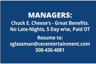 Managers needed!
