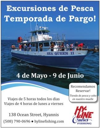 Excursiones de Pesca, Temporada de Pargo!