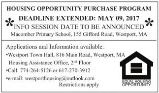 Housing Opportunity Purchase Program (HOPP)