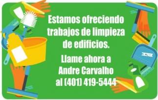 Estamos ofreciendo trabajos de limpieza de edificios