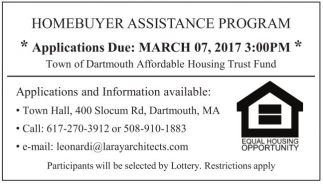 Homebuyer Assistance Program (HAP)
