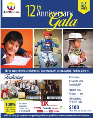 12th Anniversary Gala