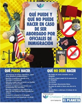 Que puede hacer y que no puede hacer en caso de ser abordado por oficiales de inmigracion