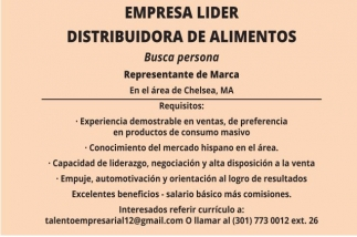 Empresa Lider Distribuidora de Alimentos