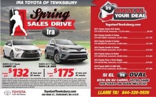 Spring Sales Drive IRA