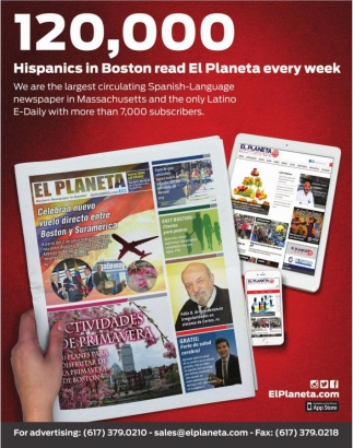 120,000 Hispanics in Boston read El Planeta every week