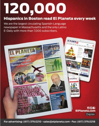 Hispanics in Boston read El Planeta every week