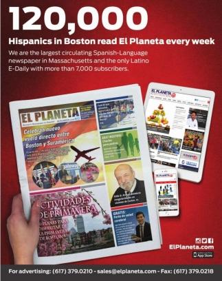 Hispanics in Boston read El Planeta every week