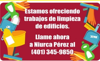 Estamos ofreciendo trabajos de limpieza de edificios.
