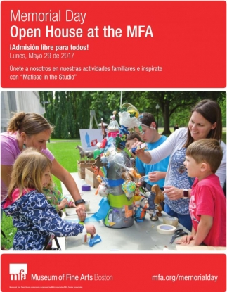 Memorial Day Open House at the MFA