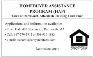 HomebuyerAssistance Program (HAP)