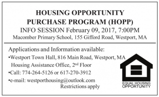 Housing Opportunity Purchase Program (HOPP)