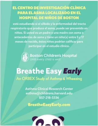 El centro de investigación clínica para el asma localizado en el hospital de niños de boston