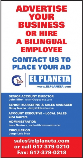Advertise your business or hire bilingual employee!