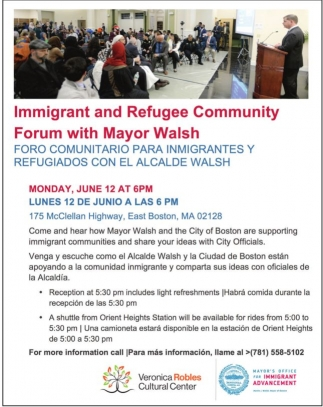 Immigrant and Refugee Community Forum with Mayor Walsh