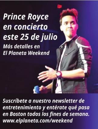 Prince Royce en concierto este 25 de Julio