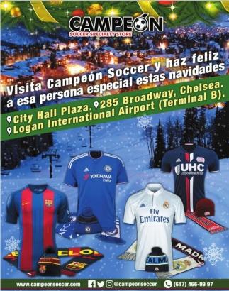 Visita Campeón Soccer y haz feliz a esa persona especial estas navidades