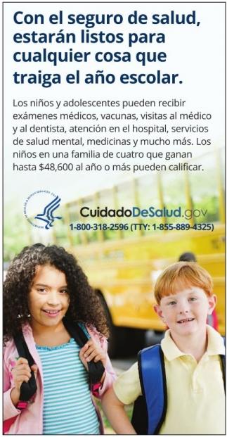 Con El Seguro De Salud, Estarán Listos Para Cualquier Cosa Que Traiga El año Escolar.