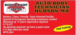 Auto Body Technician Hudson MA