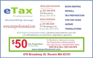 $50 Tax Preparation
