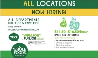 All Locations Now Hiring!