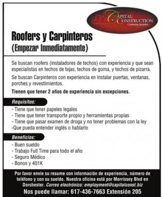 Roofers y Carpinteros