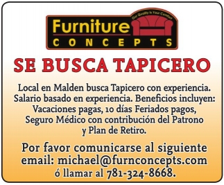 Se Busca Tapicero